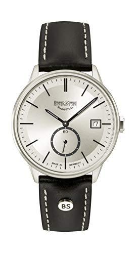 Bruno Söhnle Herren Analog Quarz Uhr mit Leder-Kalbsleder Armband 17-13183-241