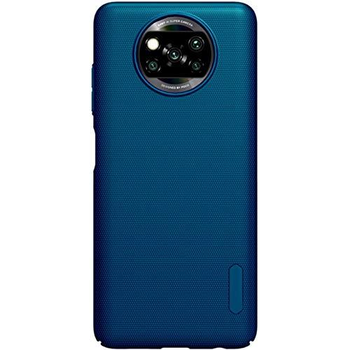 Riyeri Schutzhülle für Xiaomi Poco X3 NFC, ultra-dünn, Silikon, TPU, hohe Widerstandsfähigkeit & Flexibilität, Handyhülle, kratzfest, rutschfest, Litet-Reader, seidig, Blau