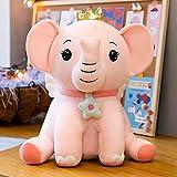 LYXBWT Ángel Elefante muñeca de Peluche de Juguete Elefante muñeca Ragdoll Regalo de cumpleaños para niños 55 cm Rosa