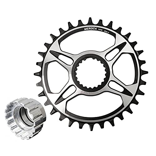 Cadena de Cadena 12 Velocidad MTB Bicicleta Cainado 32T 34T 36T 38T Mountain Bike Caining Mount Direct CANKSET para for Shimano M6100 M7100 M8100 M9100 (Chainwheel Teeth : 36T, Color : Plate Tool)
