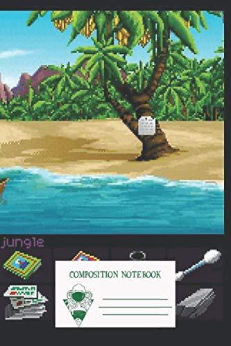 Composition Notebook: Finally On Monkey Island Monkey Island 1 Workbook for Adult