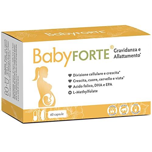 BabyFORTE Vitamine Gravidanza & Allattamento Integratore - 60 Capsule - acido folico + 17 Nutrienti - Omega 3 DHA EPA - Made in Germany
