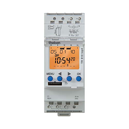 Theben 6104108 TR 610 top2 24V UL  1 channel digital time switch  timer  DINRail  programmable  MADE IN GERMANY
