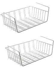 Urban Design Juego de 2 cestas Colgantes de Metal para armarios de Cocina, armarios roperos, estanterías, armarios empotrados