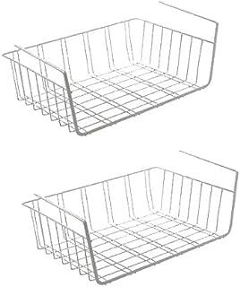 Urban Design Juego de 2 cestas Colgantes de Metal para armarios de Cocina armarios roperos estanterías armarios empotrados