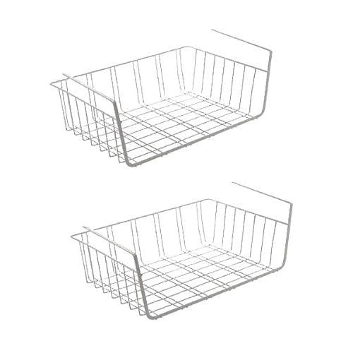 Urban Design Lot de 2paniers Suspendus en métal - Rangement pour placards de Cuisine, armoires, étagères, Meubles Bas
