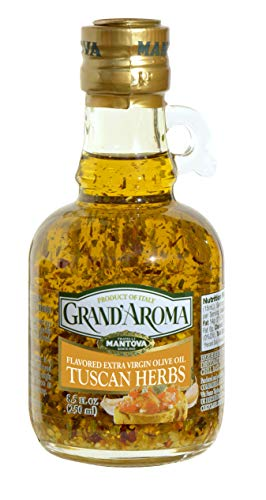 Grand'aroma Tuscan Herbs Extra Virgin Olive Oil Flavored, 8.5 Oz Bottles (Pack Of 3)