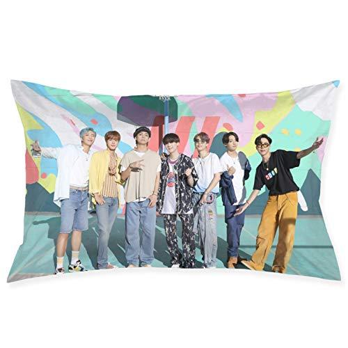 Bedais Kpop BTS Dynamite Pillow Throw Waist Pillow Case Cushion Cover Home Office Decorative Rectangle Pillowcases 20 X 30 Inches