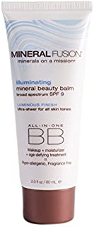 MINERAL FUSION All In One Mineral Beauty Balm Illuminating Spf 9, 2 Ounce