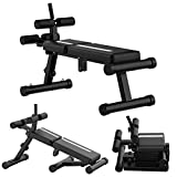 UINKISY Sit-ups Bench 3 Level Adjustable Weight Bench Roman Chair Strength Training Workout Bench, Slant Board Folding Design Sit-ups Board Dumbbell Bench Ab Trainer for Exercises Strength Training with 440 LBS Capacity