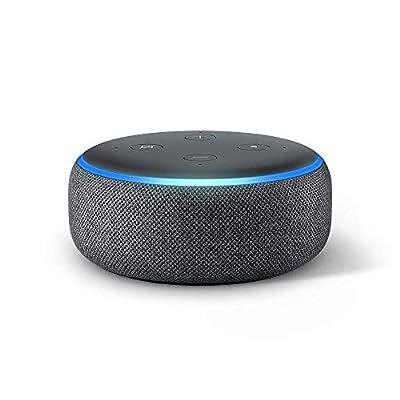 Certified Refurbished Echo Dot (3rd Gen) - Smart speaker with Alexa - Charcoal from Amazon