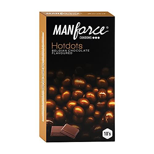 Manforce Premium Hotdots Belgian Chocolate Condoms with Bigger Dots - 10 Pieces