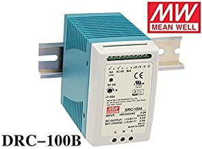 MEAN WELL DRC-100B 96W 24-30V AC/DC meanwell din rail security Power Supply with Battery charger(UPS function) DRC-100