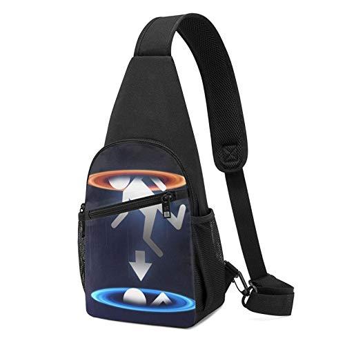 DJNGN Divertente Portal Sling Bag Crossbody Travel Escursionismo Petto Daypack