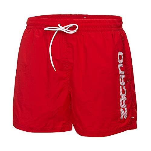 Zagano Adam Lipski Badehose Herren Lang 5115 - Boxer Shorts for Men - Badehosen Männer Schwimmhose - Bad Strand - Badeshorts Jungen - Kurze Hosen - Trainingshose - Beach Shorts (Rot, 5XL)
