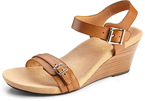 Vionic Noble Laurie Backstrap Sandal Tan 6M
