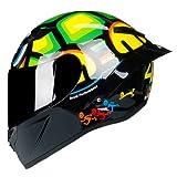 2020 nuovo casco da moto integrale Casco Moto Casco da corsa professionale Capacete Moto Kask Motocross Off Road Touring-Gloss 7-3-M