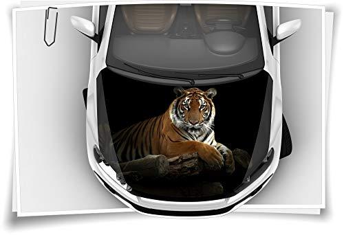 Medianlux Tiger Holz Schwarz Motorhaube Auto-Aufkleber Steinschlag-Schutz-Folie Airbrush Tuning Car-Wrapping Luftkanalfolie Digitaldruck Folierung