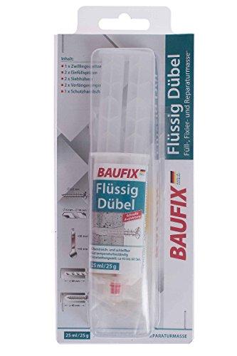 BAUFIX Flüssigdübelset 2-Komponenten Füll-, Fixier- und Reparaturmasse