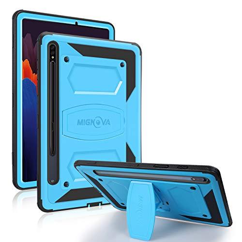 """Custodia per tablet Mignova per Galaxy Tab S7, custodia robusta ibrida resistente agli urti e antiurto (supporto integrato), per Samsung Galaxy Tab S7 11 """" modello SM-T870/T875(Blue)"""