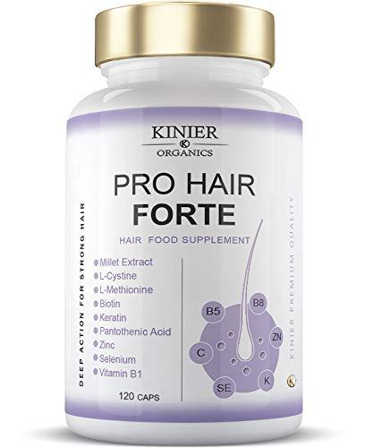 PRO-HAIR FORTE - Potente Integratore per Capelli, Unghie e Pelle | Multi-nutriente - Azione Visibile |120 Capsule - Capelli Sani, Forti e Lucenti