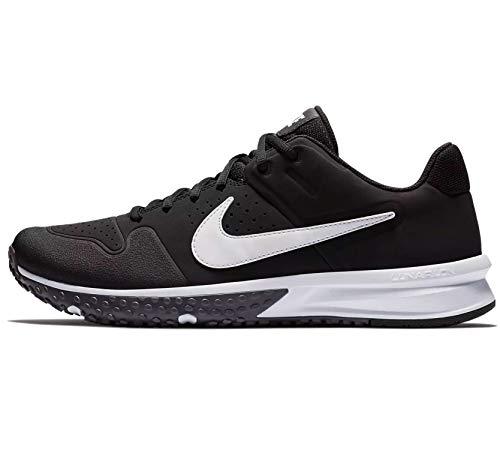 Nike Men's Alpha Huarache Varsity Turf Baseball Cleats (Black/Grey, Numeric_10)