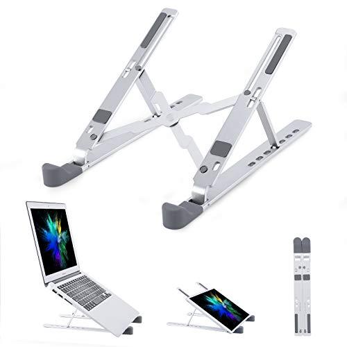 OCDAY Supporto per Laptop, Supporto per MacBook, Supporto per Notebook con Rialzo Rimovibile per Laptop Compatibile con Laptop da 10-15,6 Pollici