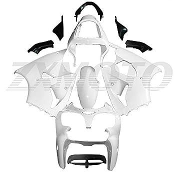 ZXMOTO Motorcycle Fairing Kit for 2000 2001 2002 Kawasaki Ninja ZX6R 636 ZX600J Fits ZZR600 2005 2006 2007 2008 Fairings Set,Unpainted