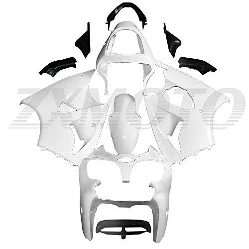 ZXMOTO Motorcycle Fairing Kit for 2000 2001 2002 Kawasaki Ninja ZX6R 636 ZX600J, Fits ZZR600 2005 2006 2007 2008 Fairings Set,Unpainted