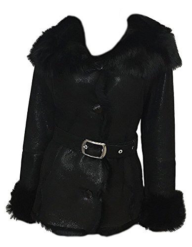 DX Leather Products -  Cappotto - Donna Nero Small