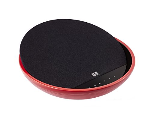 Buy Bargain KEAS MOV-1 Ceramic Bluetooth Audio System, Black and Red