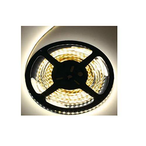 HAVA Ruban LED autocollant à intensité variable IP20 SMD 300 x 5630 60 SMD/m Blanc chaud 3000 K 12 V 80 W 6000 lm 5 m