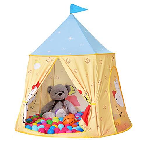 Prinses Canvas Kids Play Tent, opvouwbare Playhouse voor Kinderen Baby Kids Toys Binnen Buiten (whithout Balls)