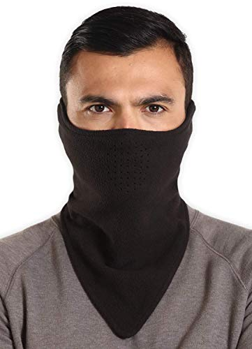 Half Face Balaclava Ski Mask for Cold Weather - Men's Winter Face Warmer for Skiing, Snowboarding, Running & Motorcycling Black