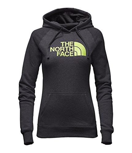 The North Face Women's Half Dome Hoodie Sweatshirt TNF Dark Grey Heather/Rave Green S