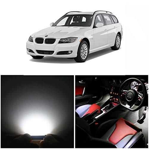 WLJH Kit de 17 ampoules LED Canbus sans erreur pour intérieur de voiture pour série 3 – E91 break Wagon 2006-2012