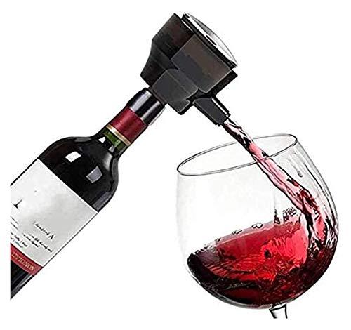 WHZG Decantador electrónico ultrasónico, aire libre de burbujeador inteligente para vino tinto, cerveza, vino, aumento de oxígeno rápido, herramientas de vino Accesorios oxidantes