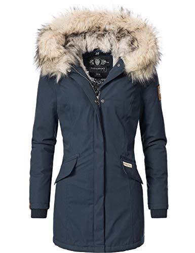 Navahoo Damen Winterjacke Winterparka Cristal Blau Gr. XXL