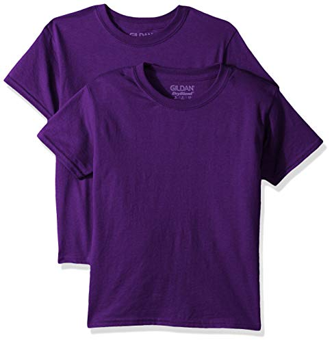 Gildan Kids DryBlend Youth T-Shirt, 2-Pack, Purple, Small