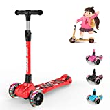 New Olym Kids Scooter,Toddlers 3 Wheel Scooter for Boy and Girls,Big Flashing Wheels Adjustable Scooter with Safety Brake for Little Children Ages 2-12 Years,4 Color Choice