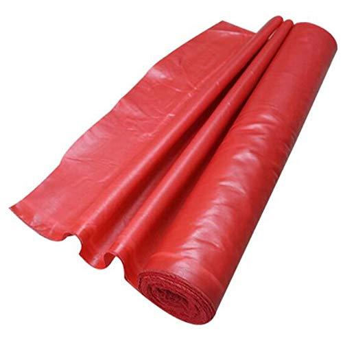 LHR Lona impermeable resistente al agua para prevención de incendios, protector solar para camión, tela ignífuga, tela de fibra de vidrio, lona para edificios de casas, 7 colores, color rojo, tamaño 1x5m