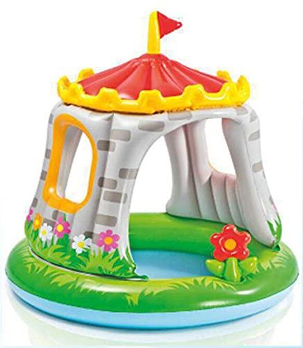 LIALIYA Piscina inflectiva de niños, Centro de Juegos Inflable, Piscina para niños para jardín, Parque acuático del Patio Trasero, sombreado