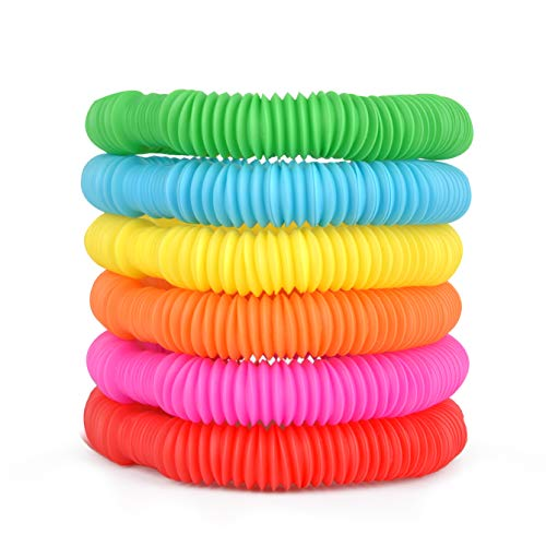 Poof Slinky Pop Toob Set of Six Colors May Vary