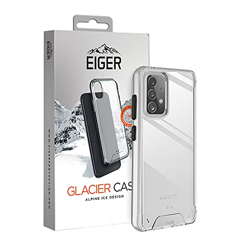 EIGER Glacier - Carcasa para Samsung Galaxy A52/A52 5G Alpine Ice Crystal Clear