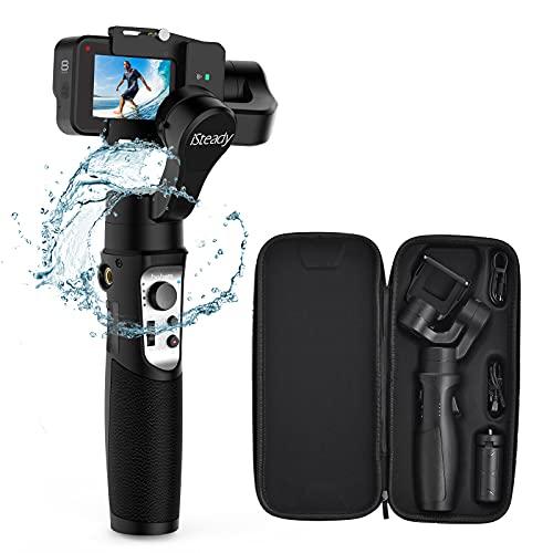 Gimbal für Gopro - Hohem 3-Achsen Actionkamera Stabilizer mit WiFi-Steuerung, 600°Inception Modus, Stabilisator für GoPro Hero 8/7 schwarz/6/5/4/3, Insta360 one R, Sony RX0 usw. IPX4,12H Akkulaufzeit