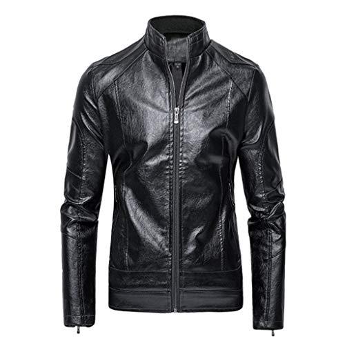 GODDOIT Herren Lederjacke Cleane Basic Leder Jacke in vielen Varianten und Farben