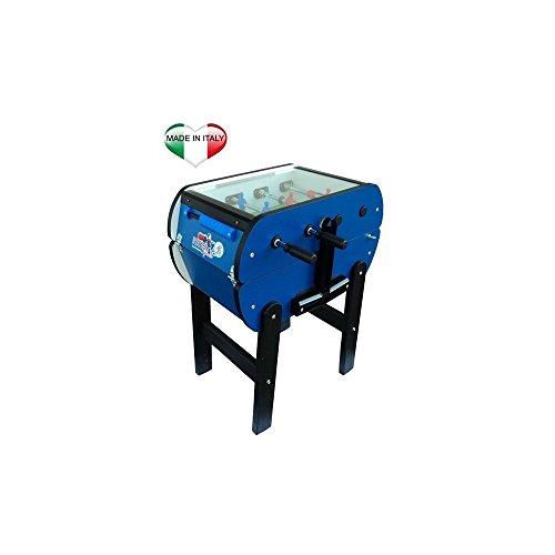 ROBERTO Sport–Tischfussball Tischkicker Fußball Roby Color Cover Professional blau Tischfußball