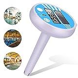 Termómetro solar digital para piscina, termómetro flotante para piscina, resistente a roturas, para piscinas interiores y exteriores, spas, jacuzzis, peces y estanques, fácil de leer