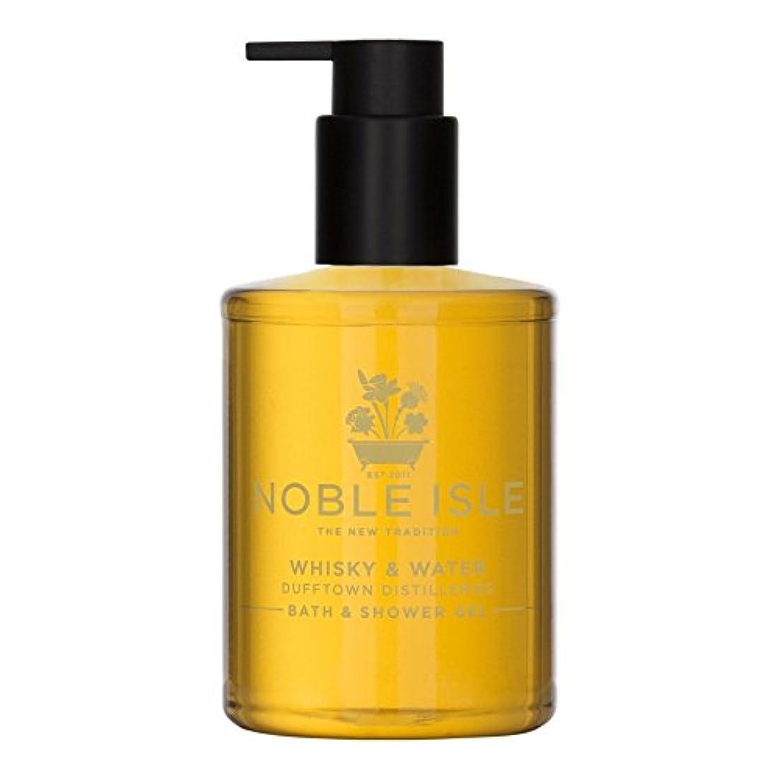 クルーズアレキサンダーグラハムベル球状高貴な島ウイスキー&ウォーターバス&シャワージェル250ミリリットル x4 - Noble Isle Whisky & Water Bath & Shower Gel 250ml (Pack of 4) [並行輸入品]