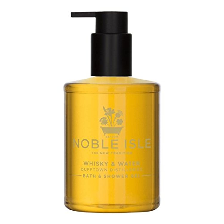 望遠鏡クリケット行政Noble Isle Whisky & Water Bath & Shower Gel 250ml - 高貴な島ウイスキー&ウォーターバス&シャワージェル250ミリリットル [並行輸入品]